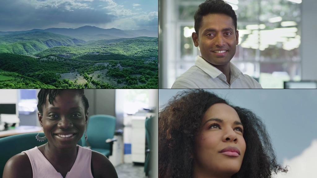各国微笑笑脸视频素材