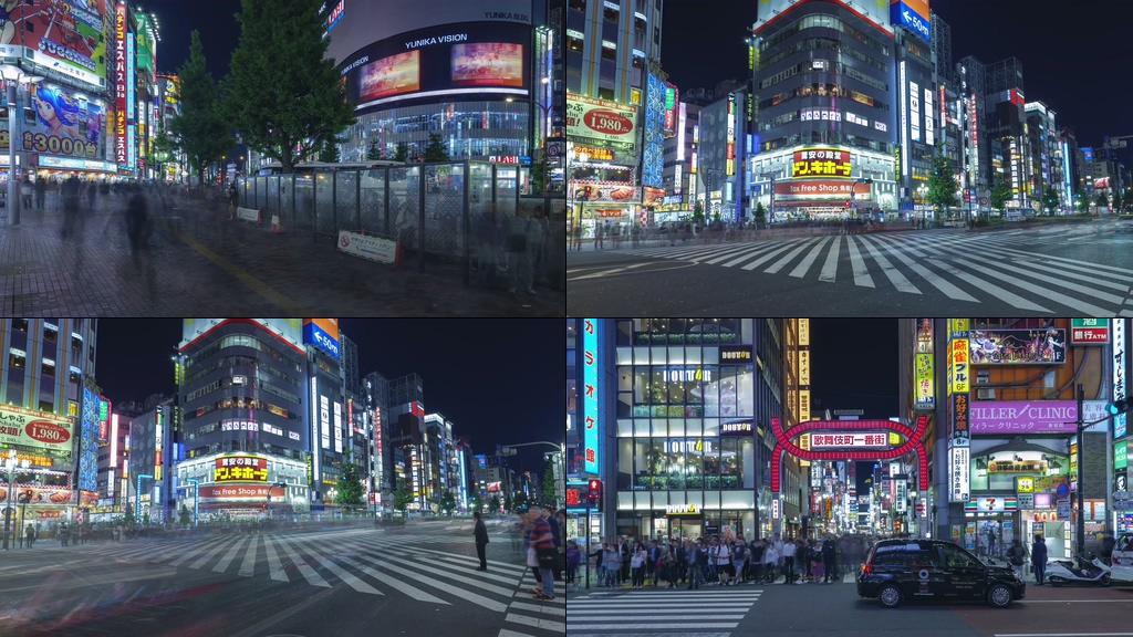 歌舞伎町一番街视频素材