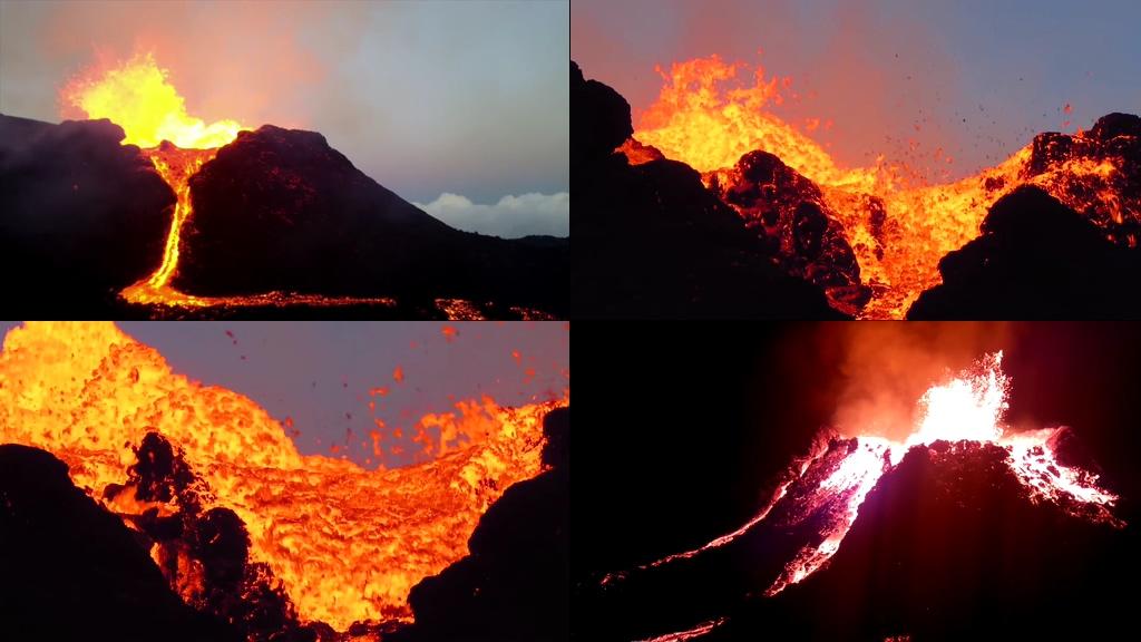 火山喷发视频素材