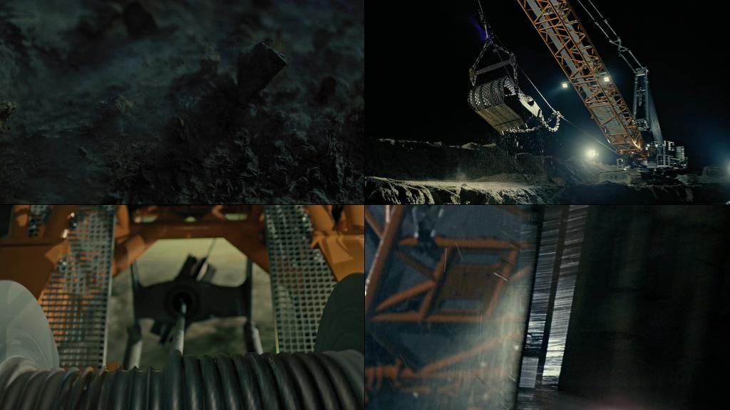 重工业大型起重机吊装机视频