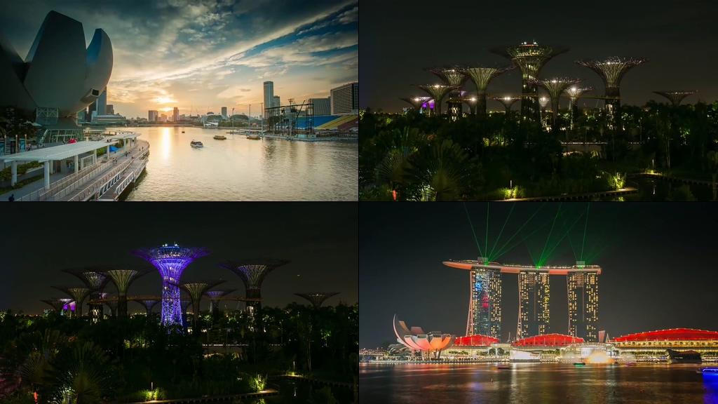 新加坡城市标志建筑物视频