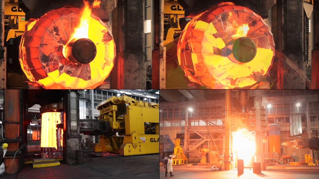重工业钢铁冶炼视频素材