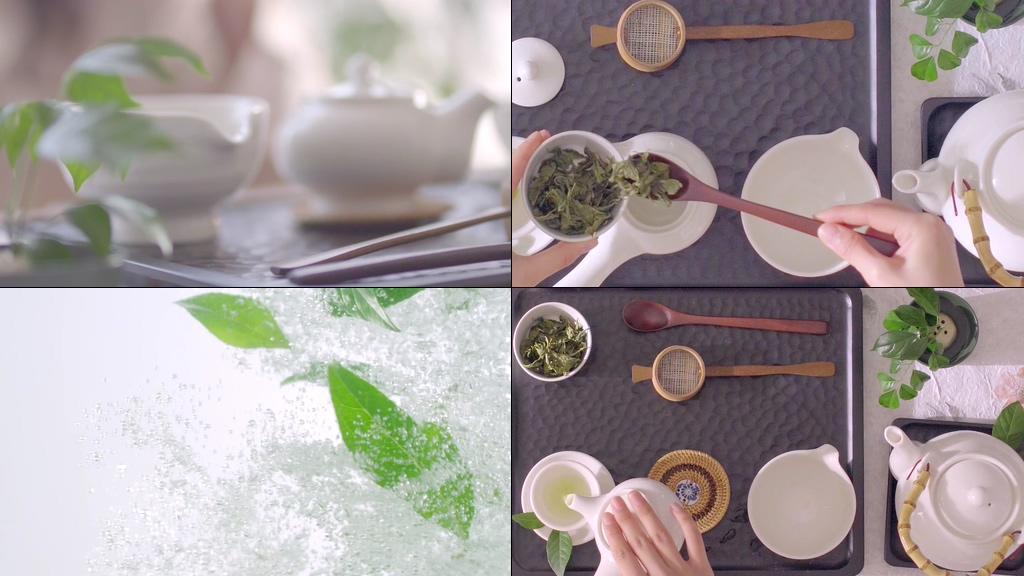 小清新美女泡茶视频素材