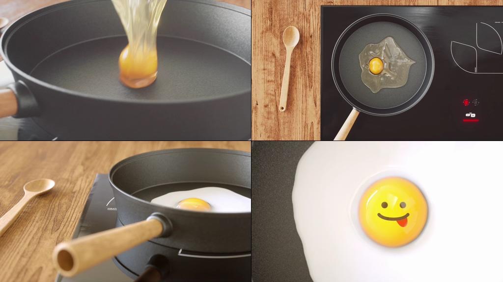 创意煎蛋视频素材
