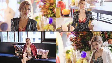 美女性感胸罩bra模特拍照