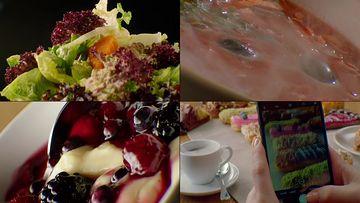蔬菜沙拉瘦身美食视频素材