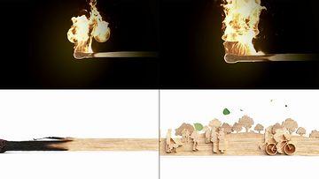 公益视频一个点燃的火柴