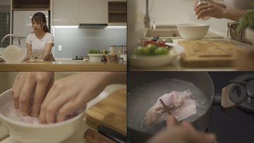 4K在家猪肉的女人视频素材