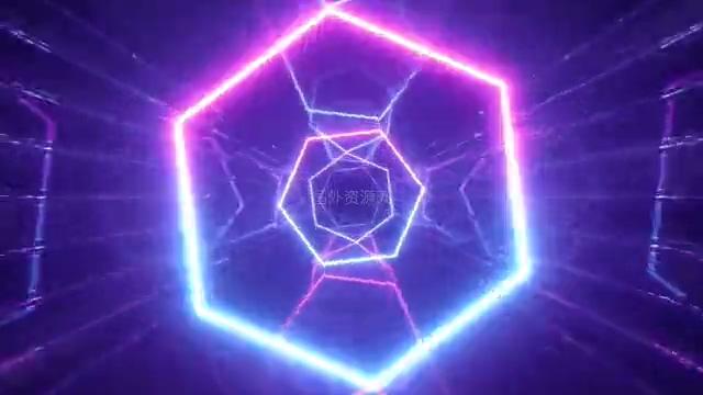 六边形扩散背景视频