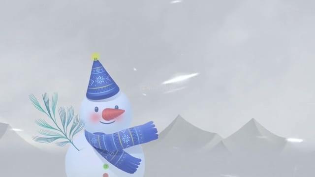 雪人背景视频