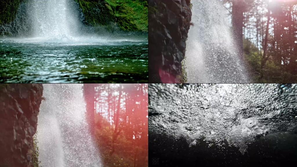 4K升格摄影瀑布水流视频