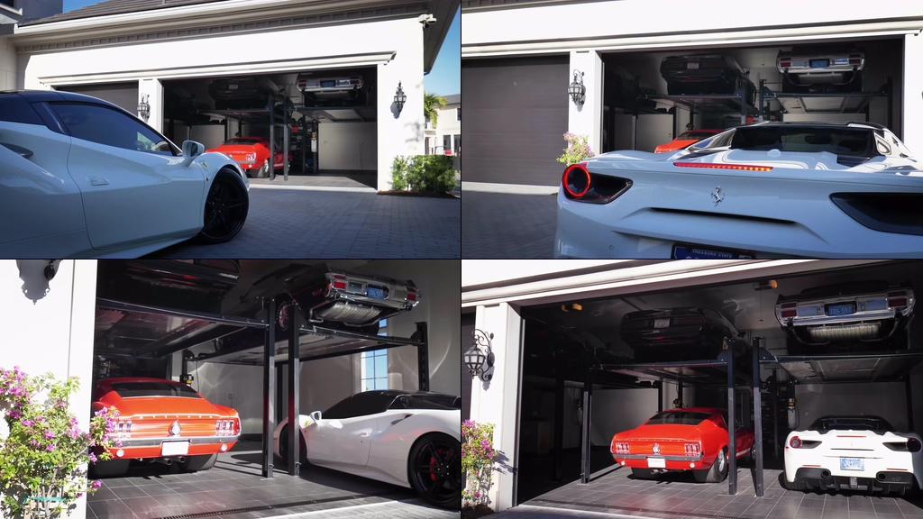 4K豪车车库视频素材