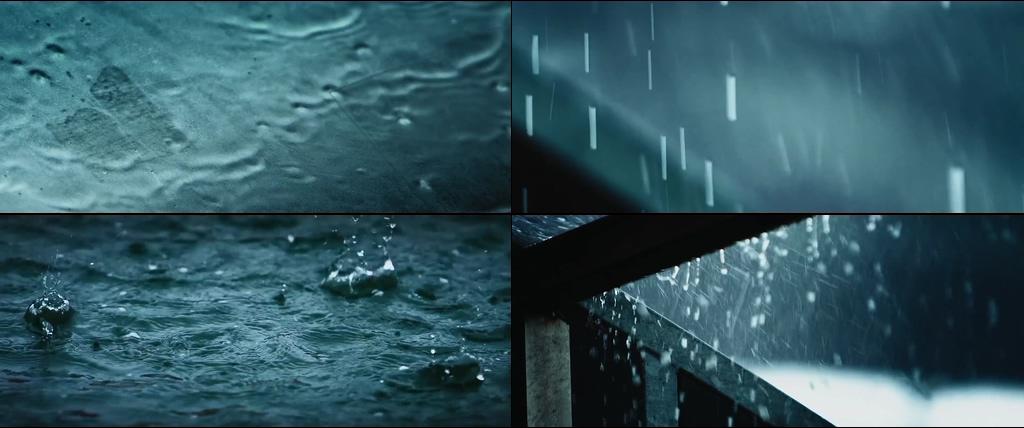 唯美的下雨场景视频素材