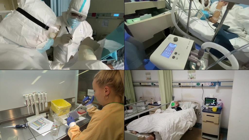 冠状病毒疫苗研究视频素材