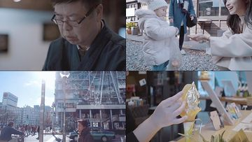 冬季到日本旅游的情侣