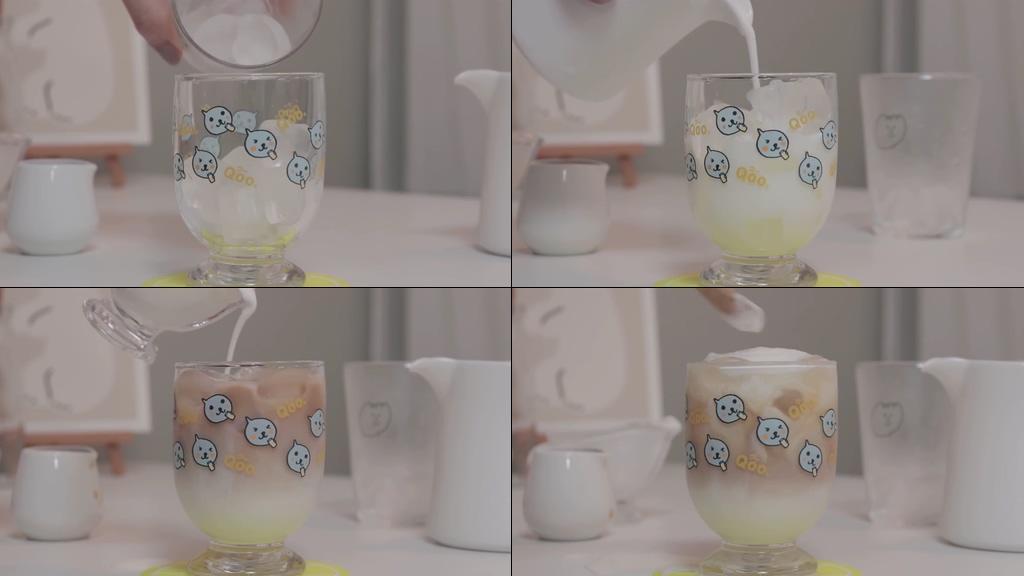 自制冷饮杯子很可爱哦