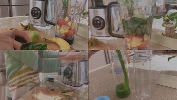榨果汁的妈妈视频素材