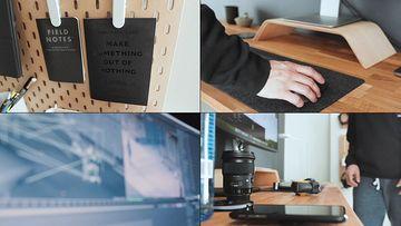 摄影师剪辑师的工作室视频