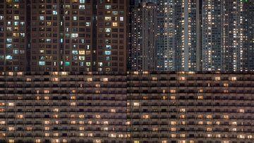 人口密集的住宅区视频素材