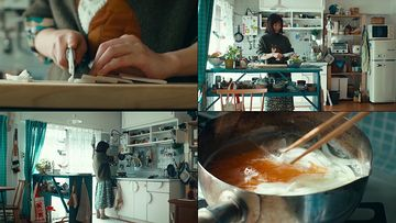 在家里做美食的宅女视频