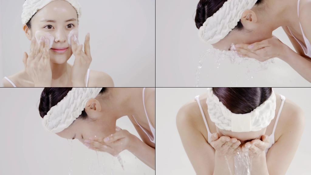 洗脸视频素材