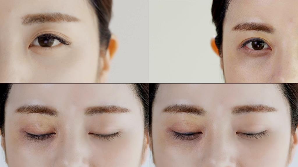 使用产品黑眼圈实验对比