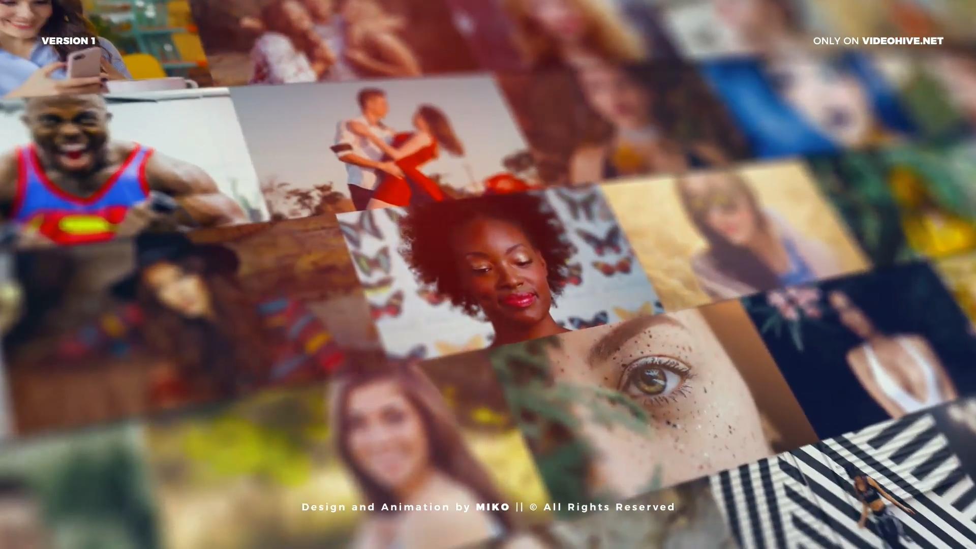 照片墙Vlog标志展示AE模板