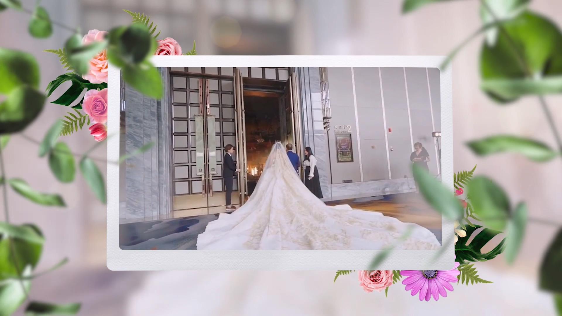 婚礼红花配绿叶PR模板