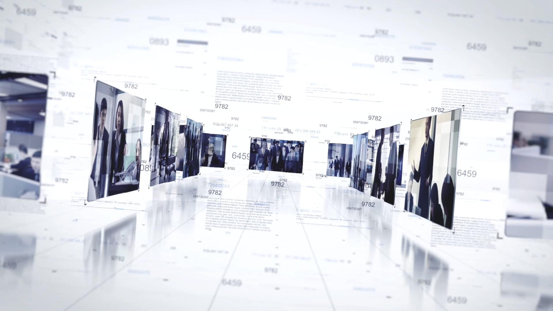 亮色科技企业展示AE模板