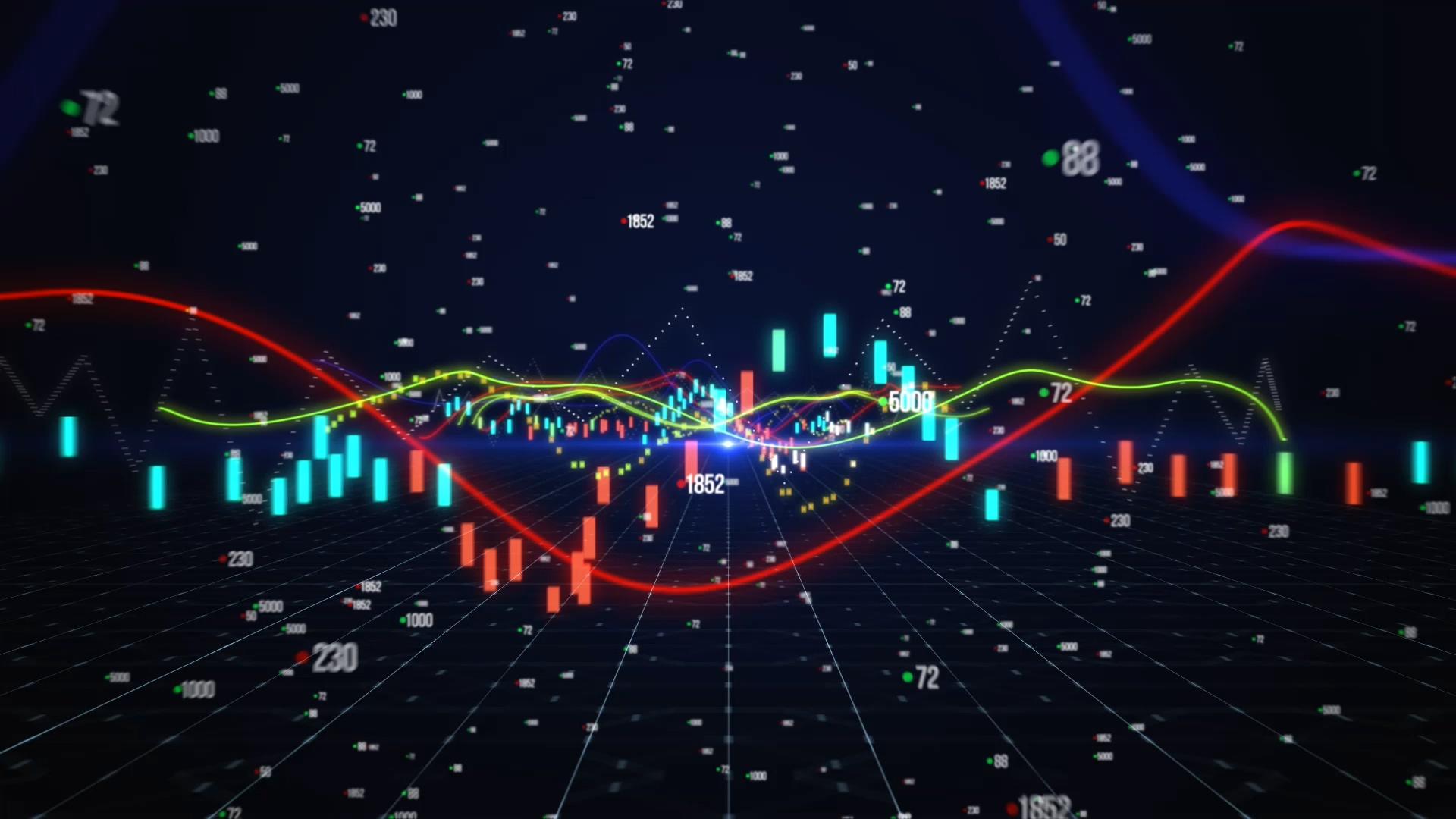 金融股票片头PR模板