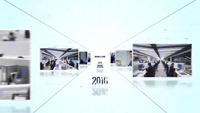 镜头往后缩企业时间线AE模板