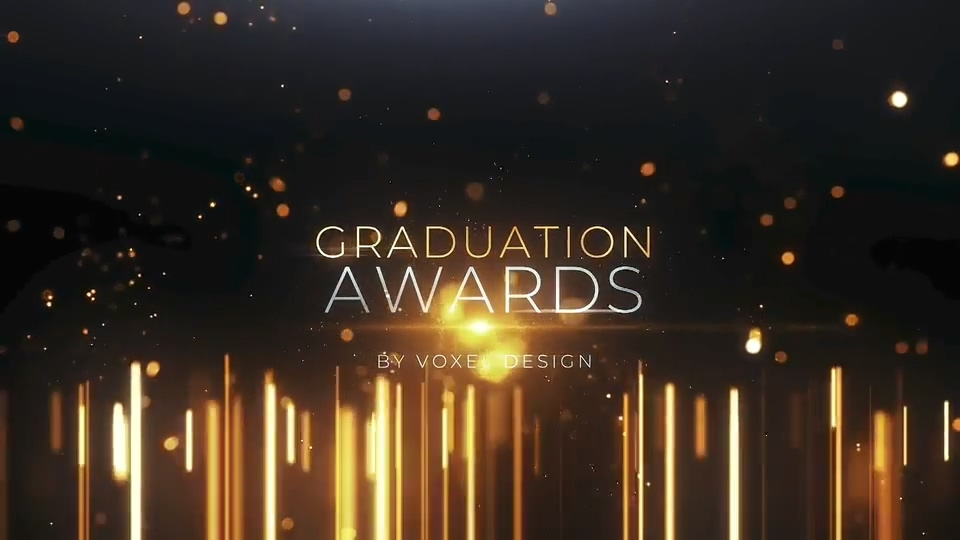 毕业颁奖开幕式金色大标题AE模板