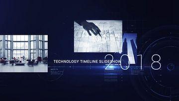 黑色科技企业时间线AE模板