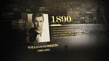 历史人物时间线AE模板