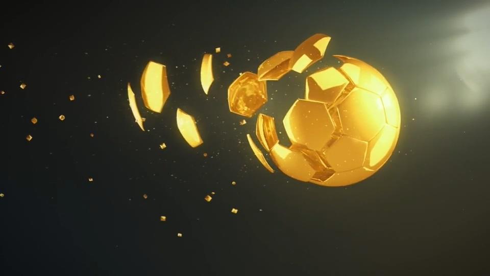 金色足球logo标志AE