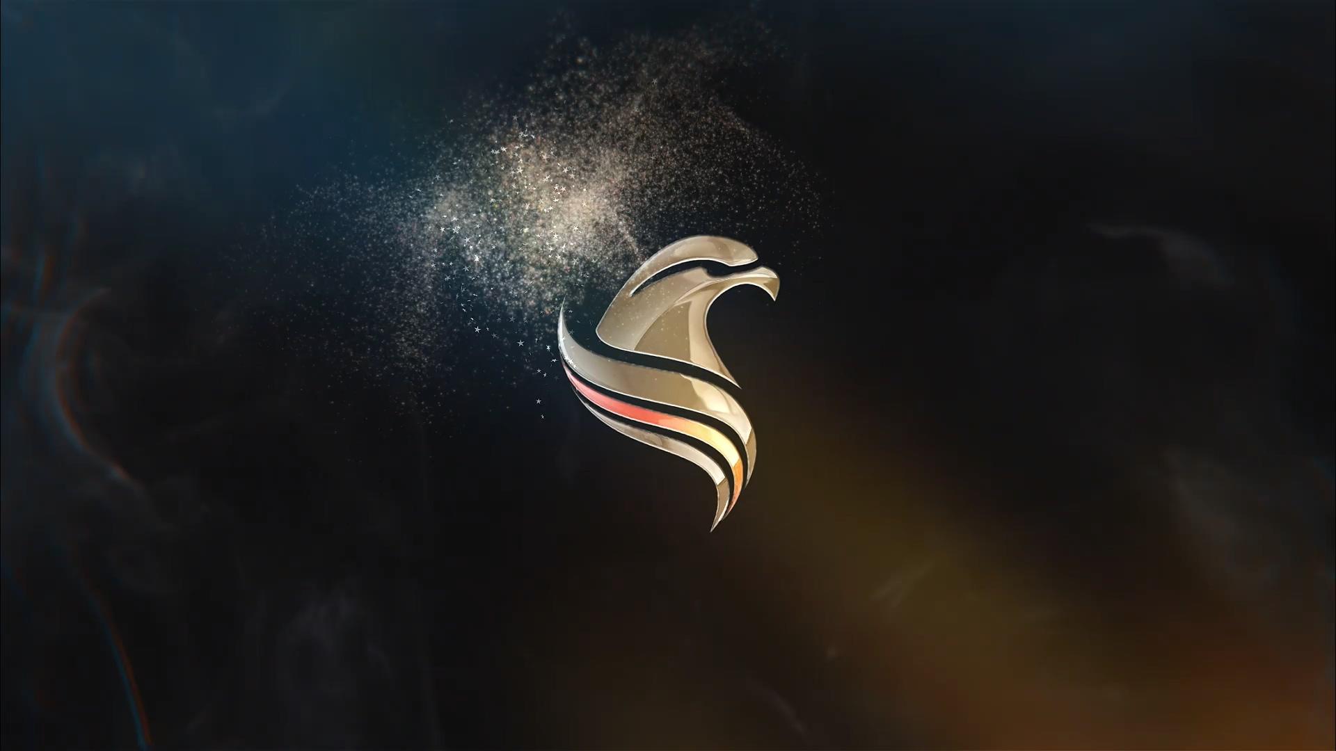 Particles粒子logo标志ae