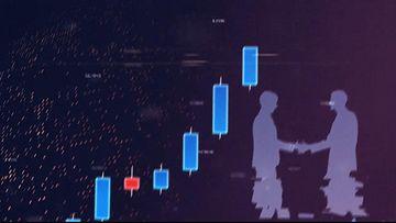 股票趋势图片头AE模板