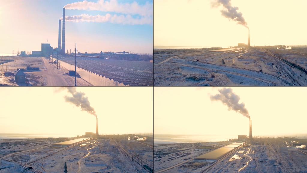 4K废气排放视频素材