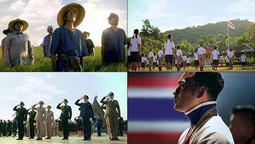 泰国升国旗唱国歌视频