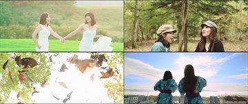 一起拍婚纱照的闺蜜视频素材