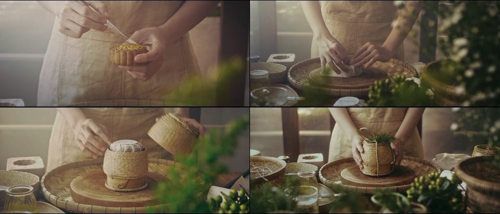 中秋节制作月饼视频素材