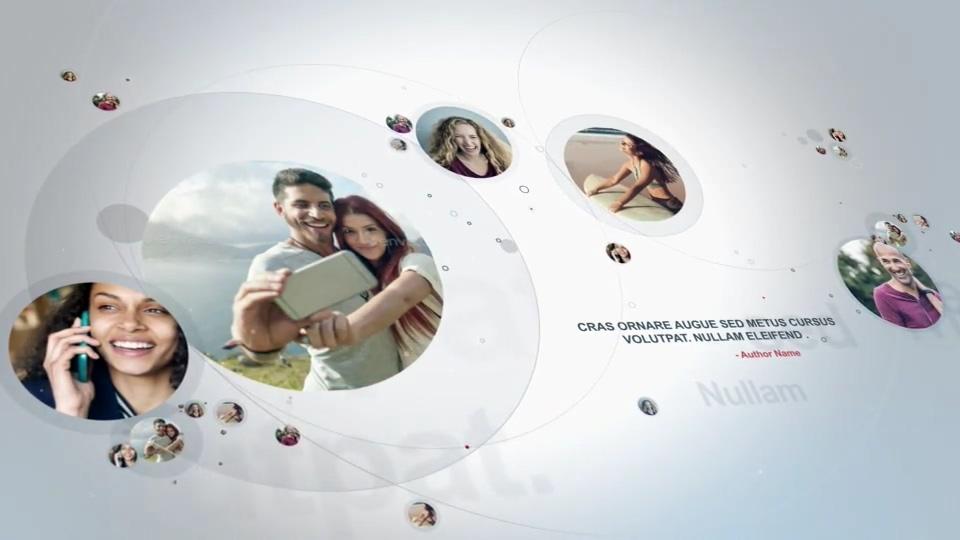社交连接人与人AE模板