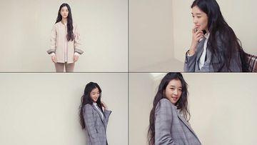 小清新韩系美女微笑