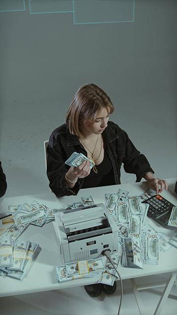 验钞机数钱计算器竖屏视频
