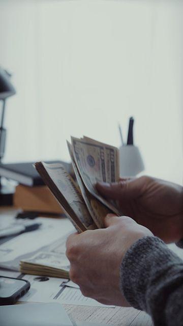 在数钱分钱的老板竖屏视频