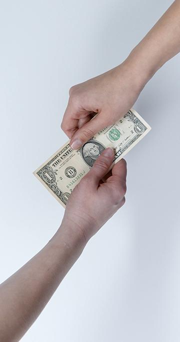 递给你一张美金视频素材