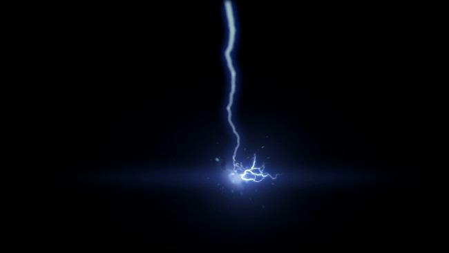 从上往下被电流击中VFX特效视频素材