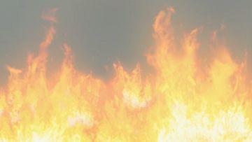 多排火燃烧起来VFX视频素材