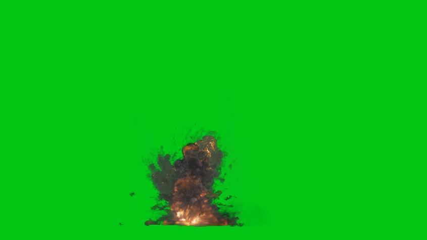 爆炸烟雾绿背景视频素材