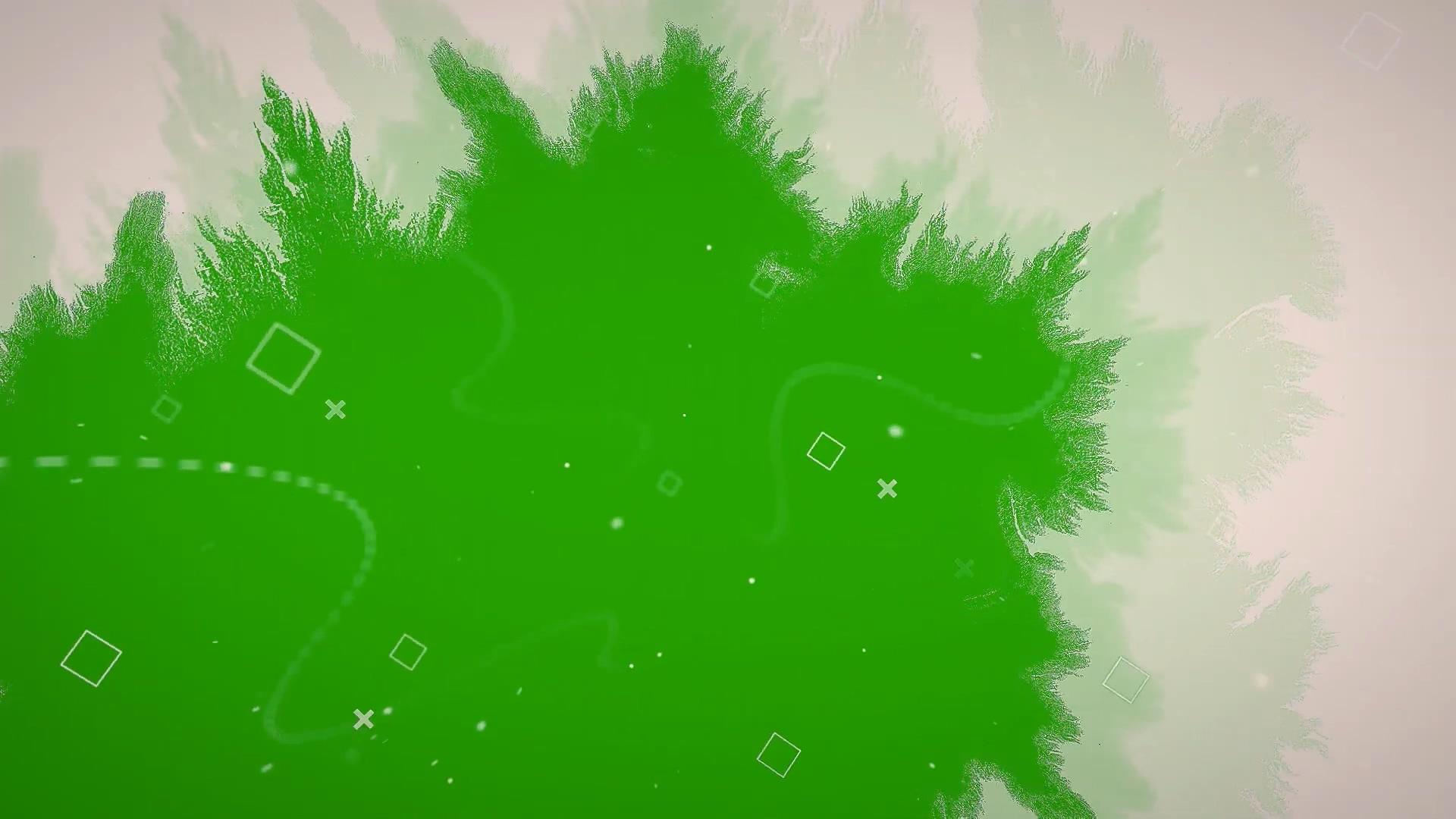 水墨晕开绿幕素材下载